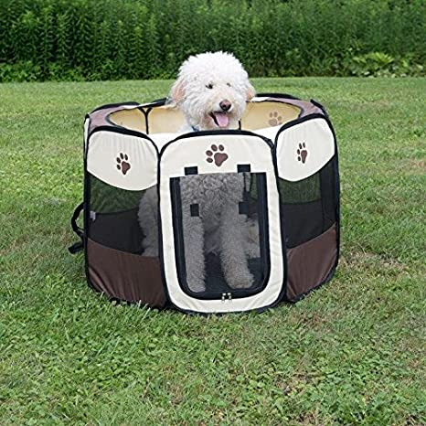 Animal Parque para perros grandes gatos, portátil plegable valla tienda: Amazon.es: Productos para mascotas