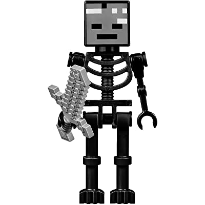 Lego Minecraft Wither Skeleton Minifigure with Sword: Toys & Games