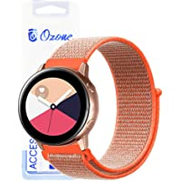 Ozone Woven Nylon Band For Samsung Galaxy Watch Active 2 40mm / Active 2 44mm / Gear S2 Classic Strap with Breathable Waterproof Velcro Strap - Orange
