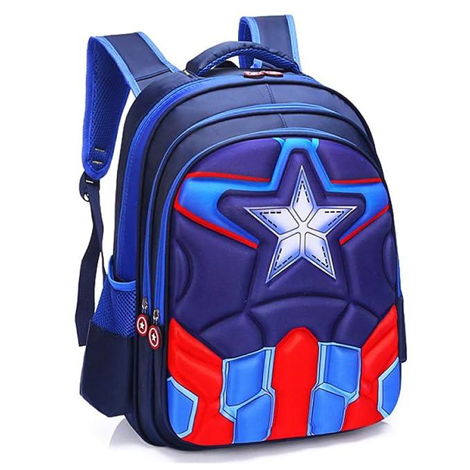 Mochila Escolar Para Niños Adolescentes Ligeros Mochilas Spider-Man Capitan America Para Niños Y Niñas Bolsas Escolares De 3-15 Años: Amazon.es: Ropa y ...