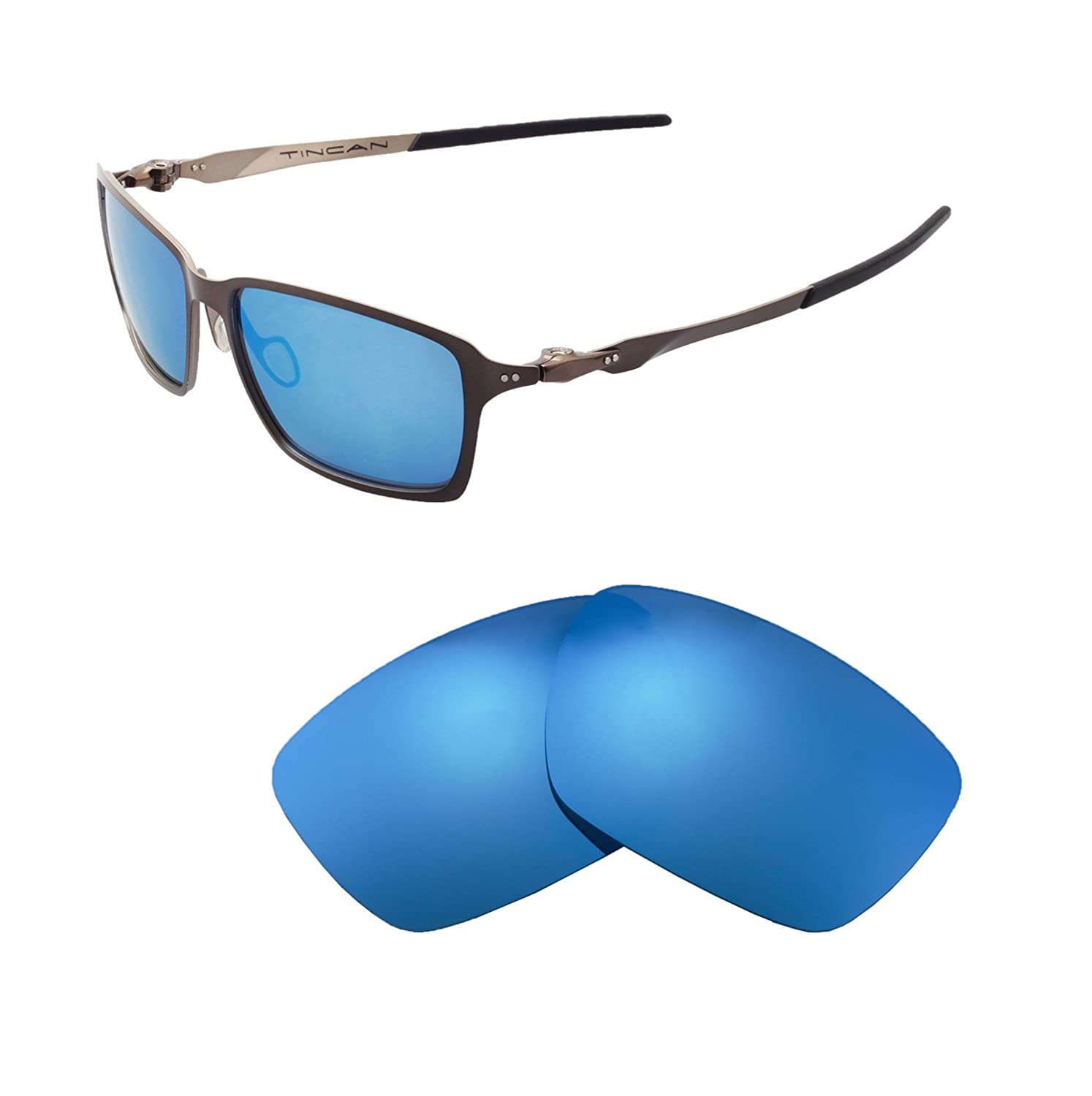a0a6d2054f0 Amazon.com  Walleva Replacement Lenses for Oakley Tincan Sunglasses - Multiple  Options Available (Black - Polarized)  Clothing