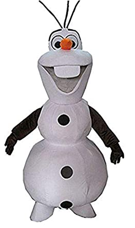 100% Real Photos Frozen Olaf Snowman Mascot Costume Adult Fancy Party  Costume d34a197cc