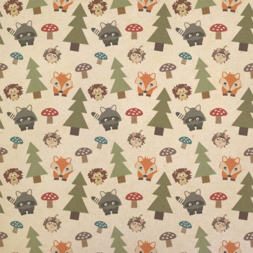 Woodland Animals Kraft Present Gift Wrap Wrapping Paper (Animals Gift Wrap)
