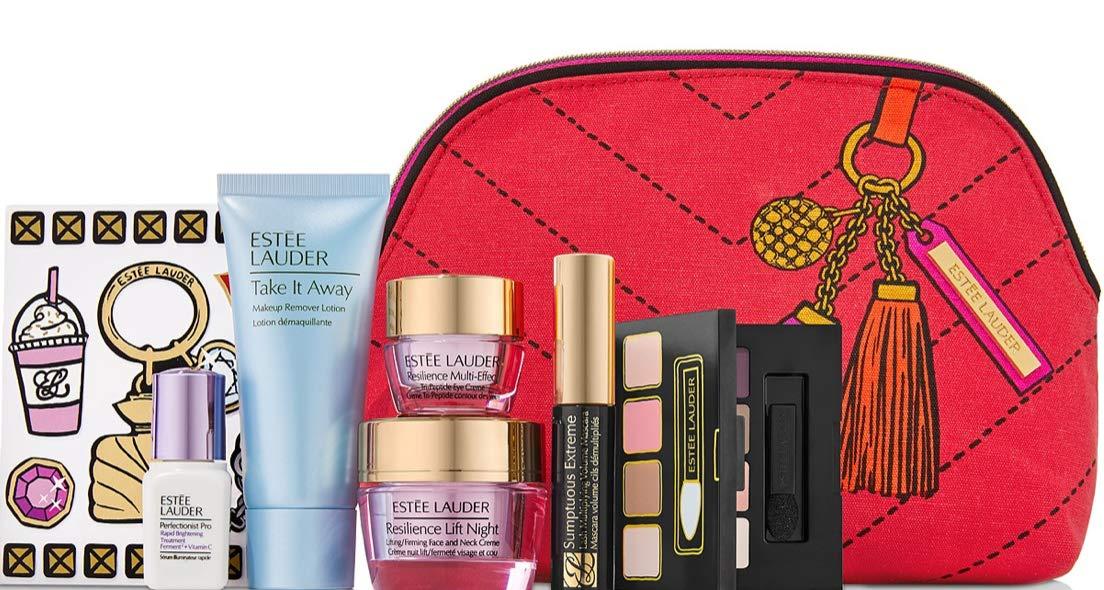 Estee Lauder 7pcs Perfectionist Pro Rapid Brightening Treatment Skincare Makeup Gift Set $144 Value