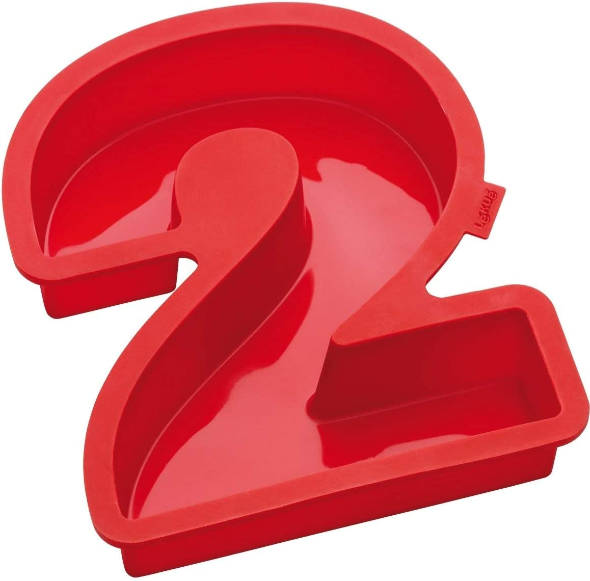 Lekue Number 2 Cake Mold, Red