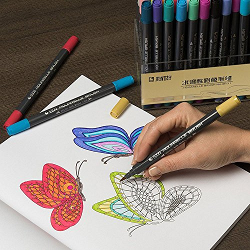 ViShow Paint Pens Acrylic Markers Set (12-Color) for Rock Painting, Glass, Wood, Porcelain, Ceramic, Fabric, Paper, Kindness Rocks, Mugs, Calligraphy and More-Fine Tip-Unique Arts and Crafts Supplies (Multicolor)