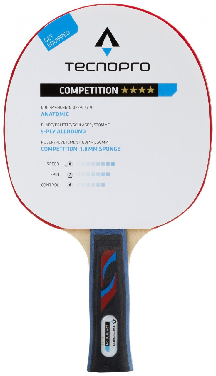 TECNOPRO Table Tennis SCHL Competition 4Star M3–Black/Red ADIL0|#adidas 234220