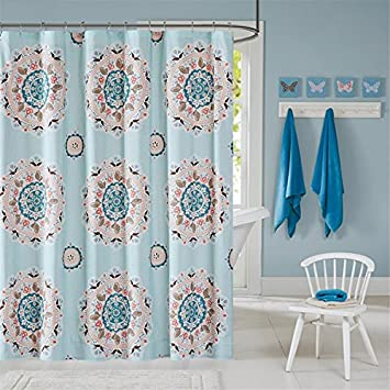 Amazon INK IVY Hana Kids Shower Curtain 72 X Blue Home
