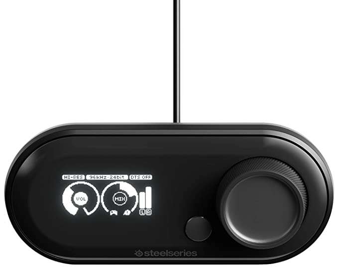 SteelSeries GameDAC - Conversor digital a analógico y amplificador para juegos (PS4/PC) color negro