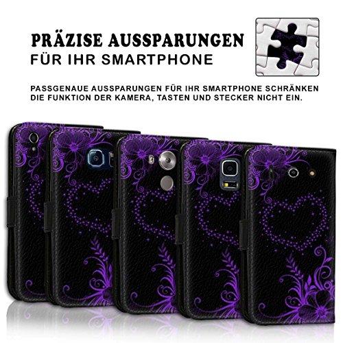 Wallet Book Style Flip Handy Tasche Case Schutz Hülle Schale Motiv Etui für Apple iPhone 6 / 6S - Design Flip MV258