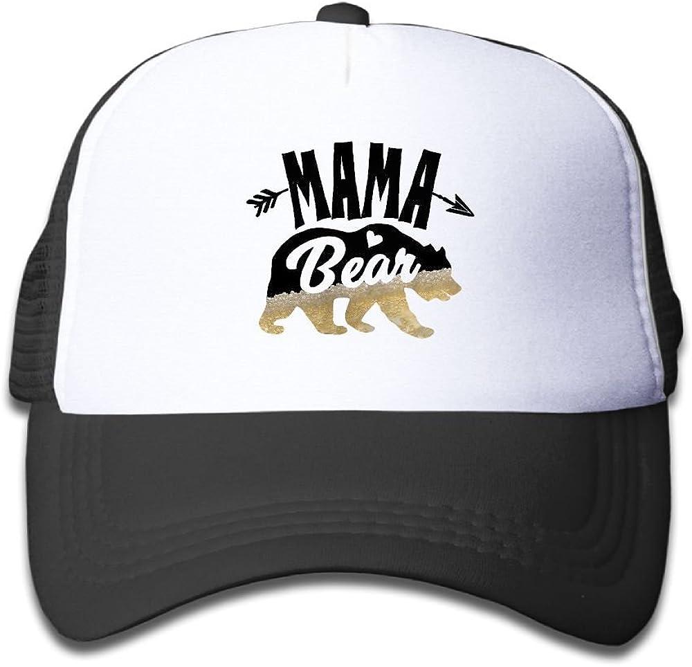 toni Child Mama Deer Bear Beer Caps Printed Trend Mesh Caps Adjustable Snapback Baseball Cap For Boy and Girls
