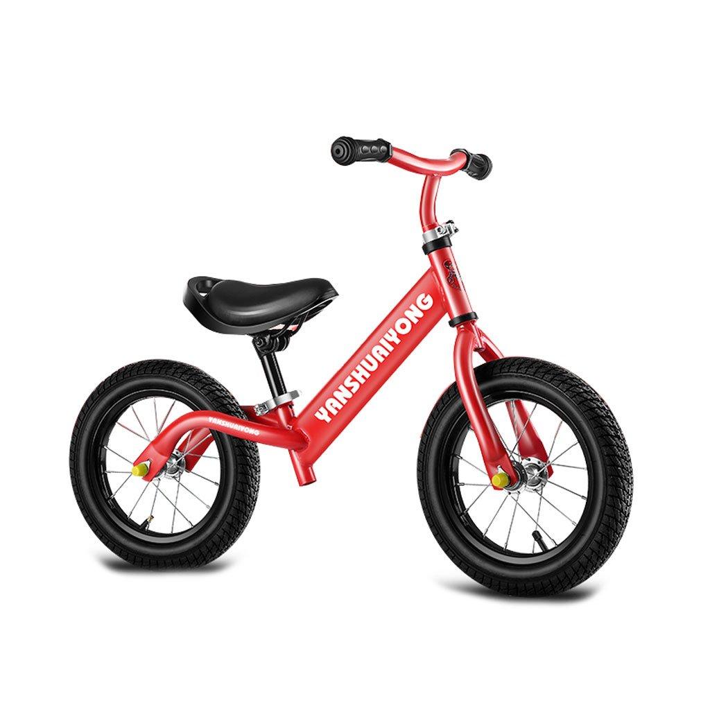 バランス車子供のスクーターペダルなしベビースクーターバギー子供のスクーターベビースクーター子供のダブルホイール自転車2つのラウンドウォーカー2-6歳 B07F35X65Q Red Red