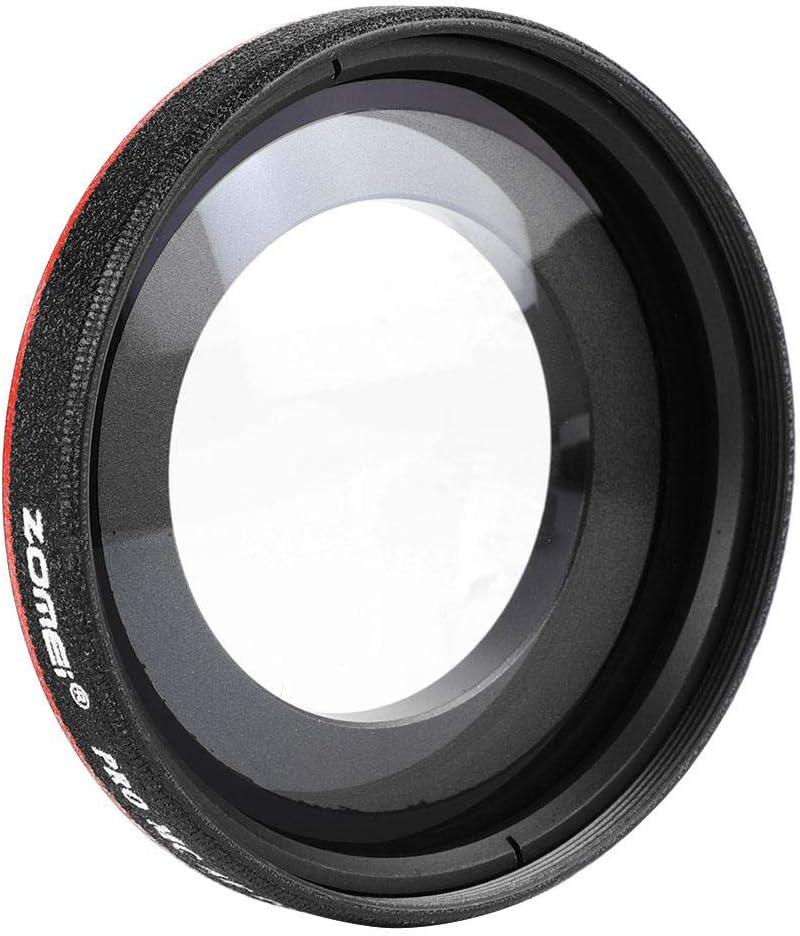 EBTOOLS 0.45X Optical Glass Ultra Slim Wide Angle Filter Accessory for DSLR Black 55mm Camera Lens Accessories