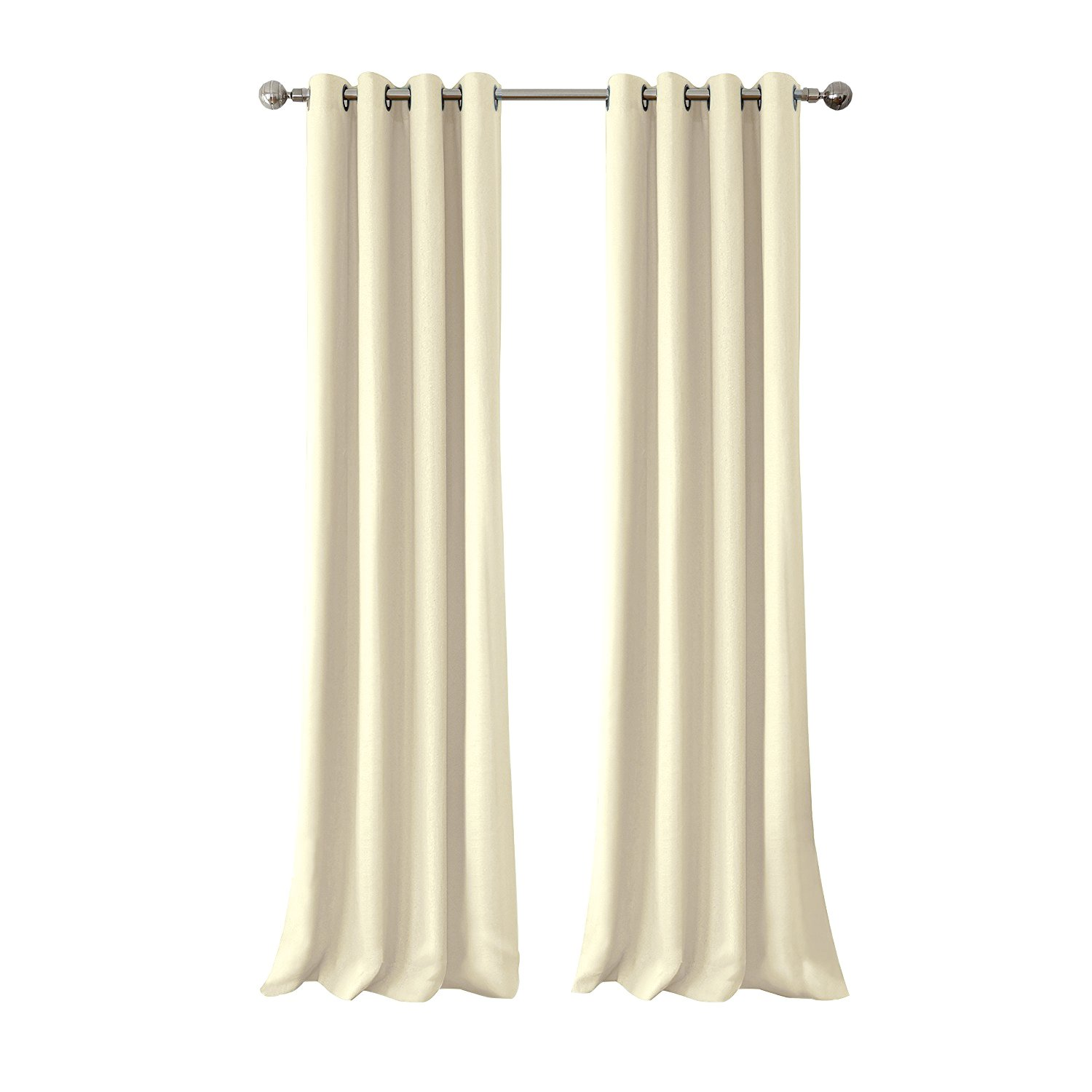 Outdoor Curtain Panel for Patio 50x96-Inch - Home Cal Versatile Thermal Insulated Grommets Blackout UV Ray Protected Waterproof Outdoor Curtain/Drape for Patio/Front Porch, Beige by Shatex (Image #2)
