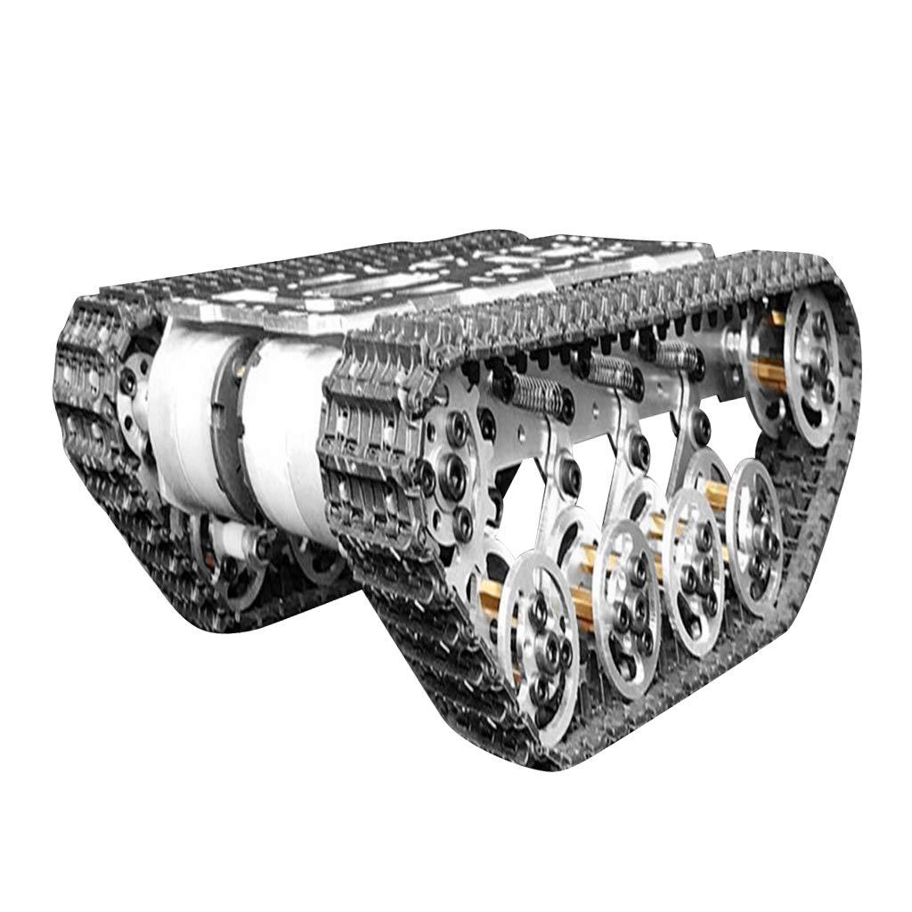 FLAMEER スマート ロボットタンク おもちゃ カーシャーシ シャーシク ローラーシャーシダンピング B07QH7N6ML