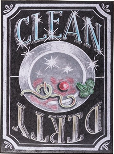 """Charismatic Clean Dirty Dishwasher Sign Primitives by Kathy 4"""" x 3"""" Chalk Magnet"""