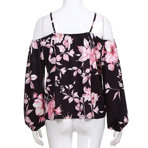 ❤ Camiseta Fuera del Hombro Mujer,amiseta Estampada de Verano Flora Print Camiseta de Tirantes túnica Absolute: Amazon.es: Ropa y accesorios