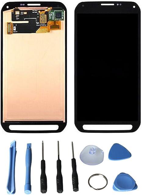 Pantalla completa para Samsung Galaxy S5 Active G870 G870 A – Digitizer Pantalla LCD Completo + cristal táctil repuesto (gris: Amazon.es: Bebé