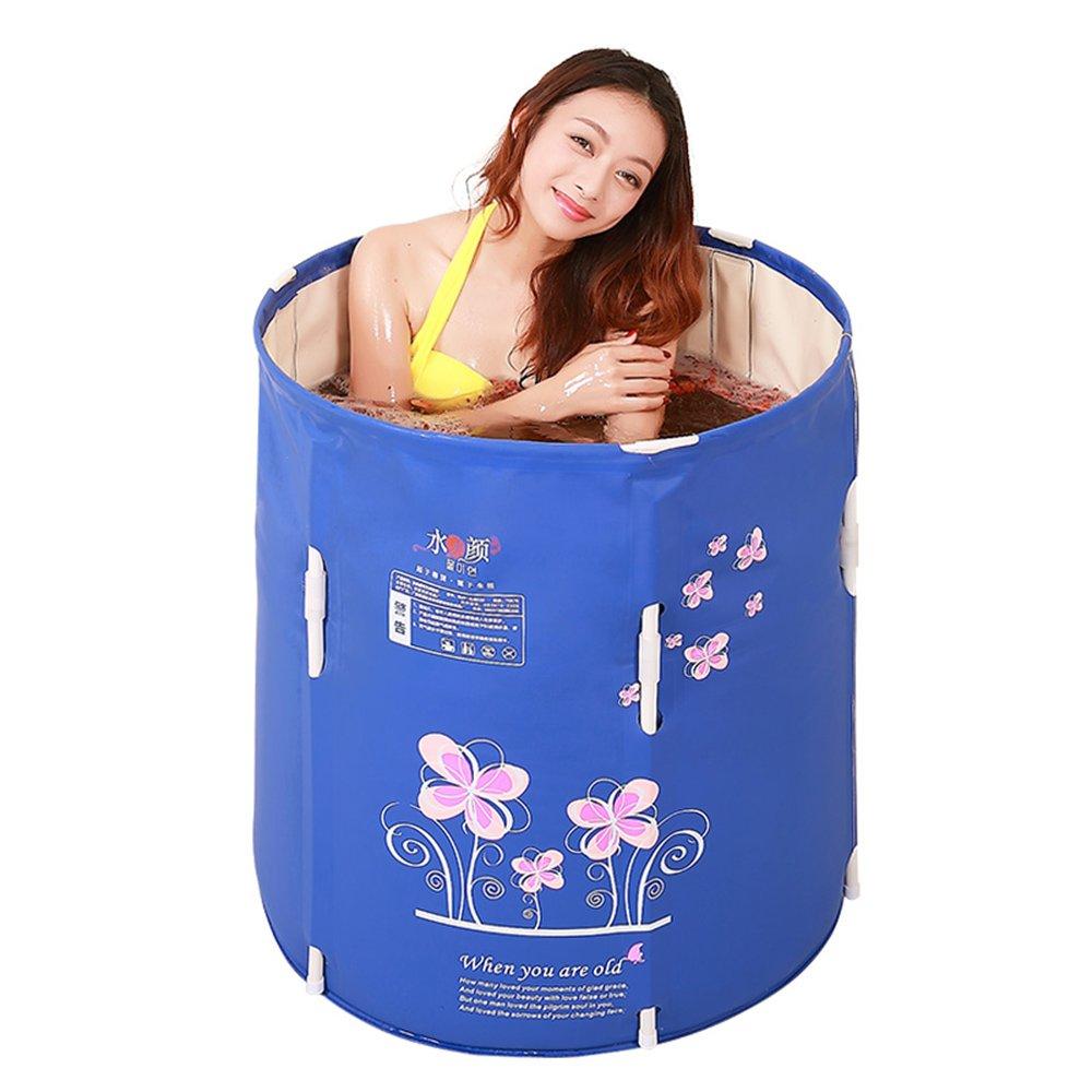 Sunhai& Environmental Protection PVC Material Can Lift Up And Down Bathtub,Adult Folding Type Bathtub,Children Insulation Bath Barrels(7070cm) ( Size : 7070cm )