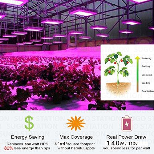 Sugo Premium 600W Led Grow Lights Full Spectrum Lamp Panel Plant Light