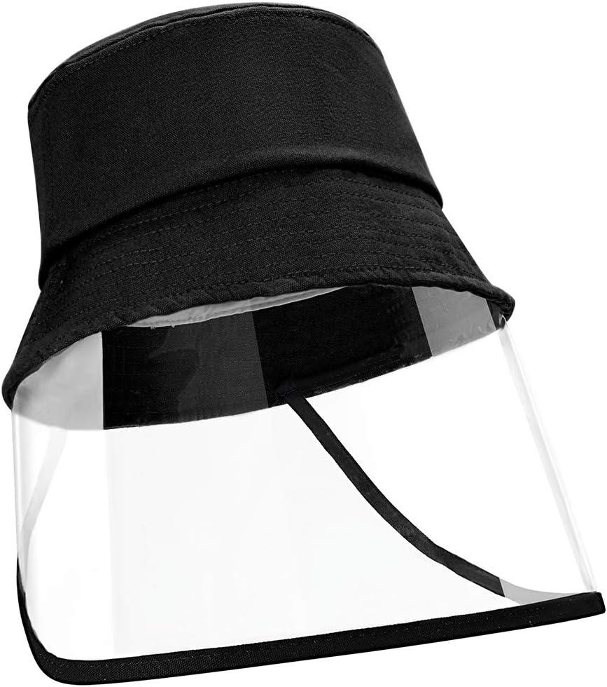 Homealexa Sombrero de Protección, Gorra anti-UV, con Protección transparente para Visera para Niños para Vacaciones, Pesca, Viajes, Playa