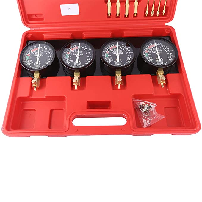 Gecheer Motor Kompressionspr/üfer Kompressionstester Motor /Öldruck Tester Synchrontester f/ür 4 Vergaser
