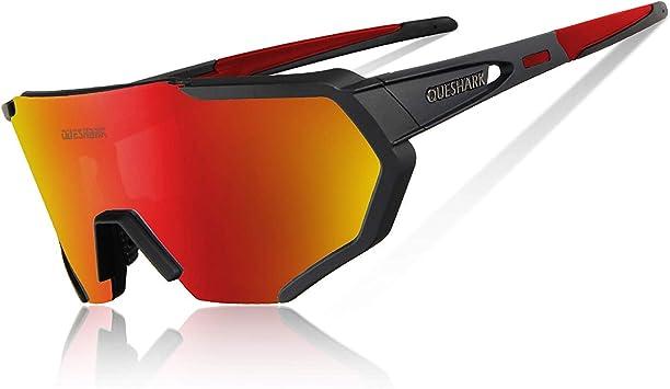 Queshark Gafas Ciclismo Polarizadas para MTB Bicicleta Gafas con 5 ...