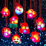 BUDI 15Pc LED Necklaces Party Favors for Kids/Adults Christmas Stocking Stuffers Decorations with Gift Wrap