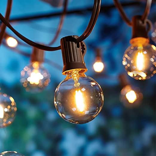 Guirnaldas luminosas de Exterior,[LED Versión] OxyLED G40 8.3 Metros 28 Bombillas Regulable Temporizador Luces de la secuencia del Jardín al Aire ...