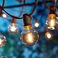 [26 LED Versie] Buitenlichtketting,7,6 meter 25+1 gloeilampen OxyLED G40 LED tuinlichtketting Terras buiten de…