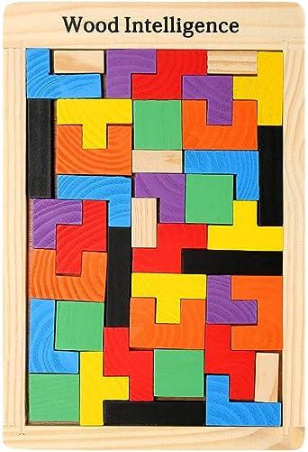 Juego De Tetris Colorido Duradero De Madera Para Niños, Juego De Mesa Para Niños De Juguete De Rompecabezas Para Niños Juguetes Inteligentes De Aprendizaje Para Niños: Amazon.es: Iluminación