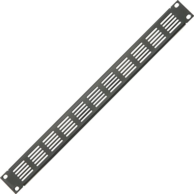 "19/"" 1U Vented Mesh Blanking Rack Patch Panel– Equipment Module Cover Plate Mount"