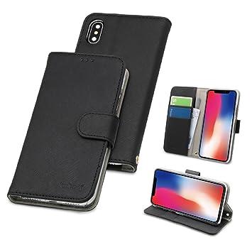 3e7a5f2647 オウルテック iPhone X/XS 手帳型ケース kuboq カードポケット スタンド機能 ストラップホール ブラック