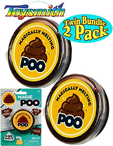 (Toysmith Magic Poo Brown (Slime/Putty) Twin Set Bundle - 2 Pack)