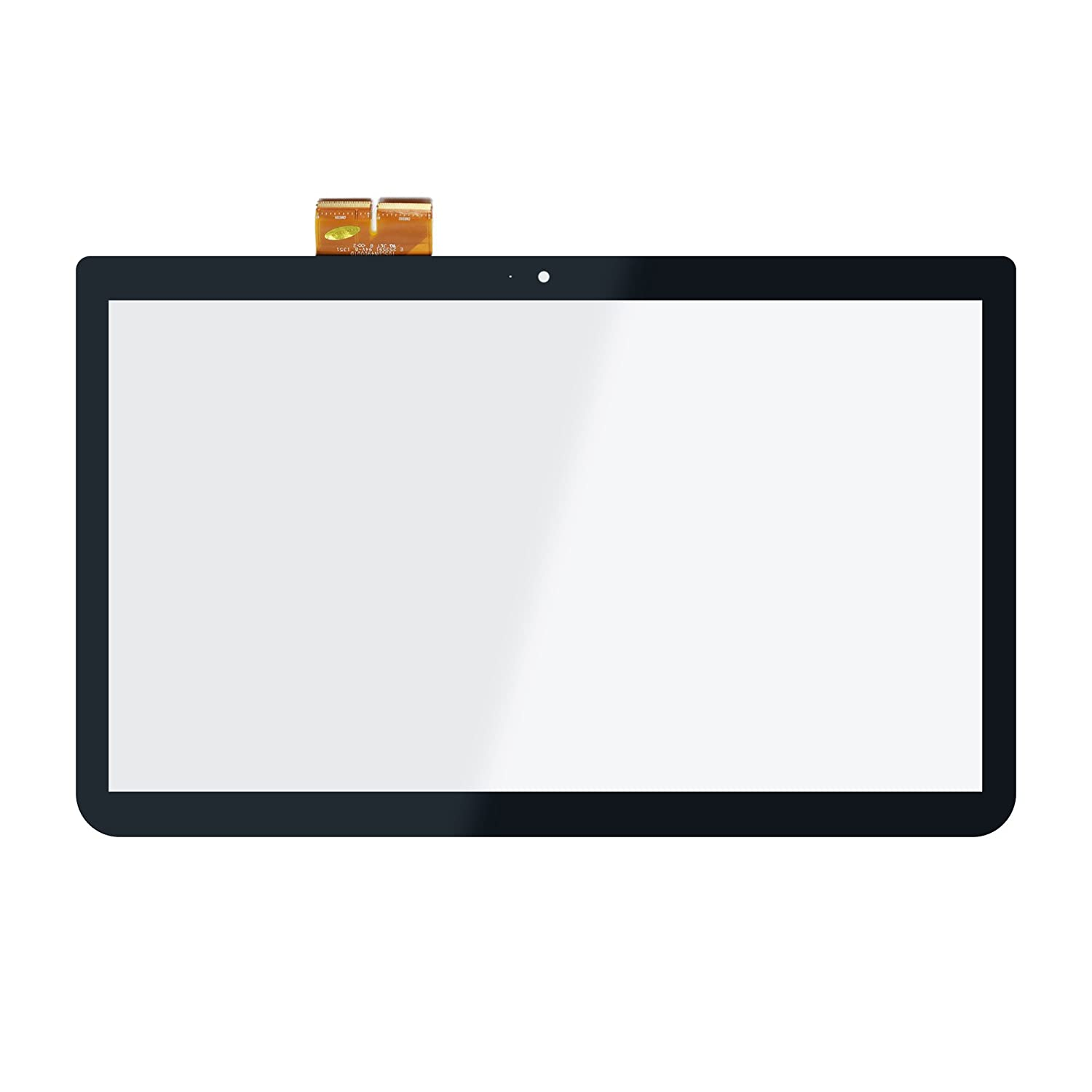 LCDOLED Replacement 15.6 inches Touch Screen Digitizer Front Glass Panel for Toshiba Satellite C50T-A C55T-A C55DT-A L55T-A Series C55T-A5222 C55DT-A5307 L55T-A5186 L55T-A5290 (No Bezel)