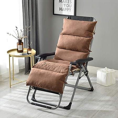 YXB Sun Lounger Cojines Lounge Chair Cojín Portátil para jardín Interior Relaxer Bench Funda de Asiento Patio Thick Bed Acolchado Reclinable Travel Holiday Outdoor-175x50x12cm Brown: Amazon.es: Hogar