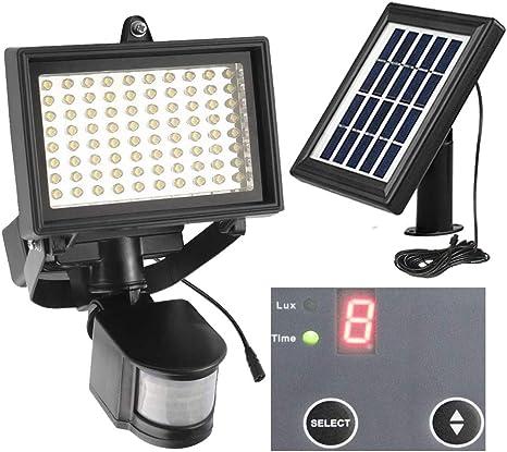 2 x 8 LED Solar PIR Outside Wireless Motion Sensor Security Flood Wall Light
