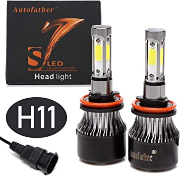 / 1/ paio H7/ LED Headlight Bulbs Conversion Kit H7/ High//Low Beam//Fog Light Lamp bulbs 20000LM 4-side 6000/ K/
