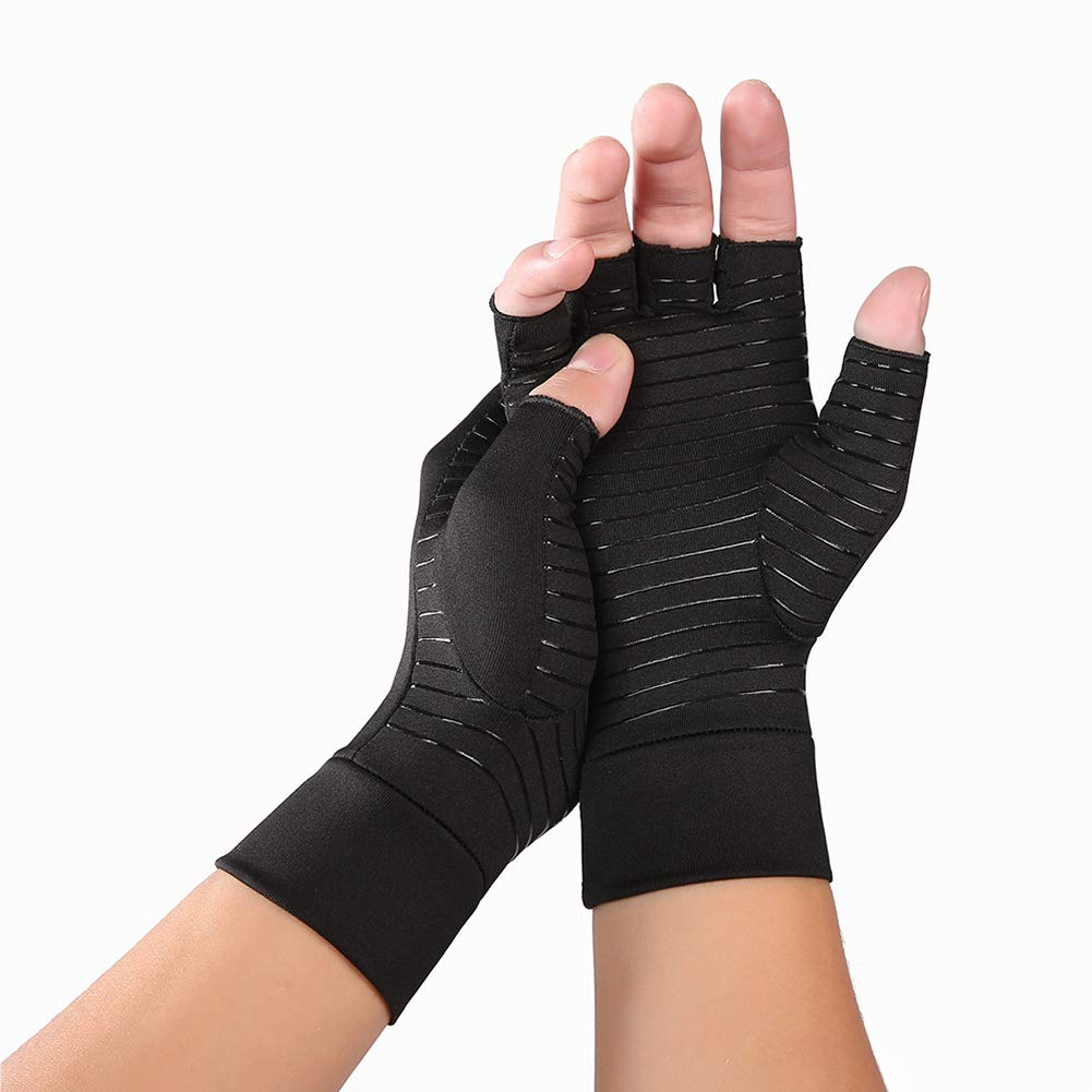 Copper Compression Arthritis Gloves for Men Women, Copper Gloves for Arthritis Hands, Gloves Arthritis Compression for Arthritis Pain Relief Medical Compression Gloves Arthritis Hand Glove (Medium)