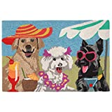 Liora Manne FT123A76344 Folly Saucy Pups Rug, Indoor/Outdoor, Bright For Sale