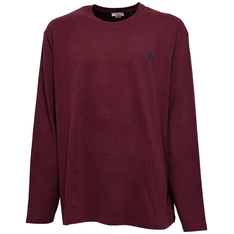 6368J Maglia uomo U.S. POLO ASSN. Burgundy Delave Vintage t-Shirt ...