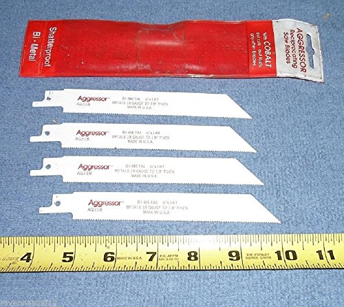 Aggressor AG318 Sawzall Blades Bi- Metal 6
