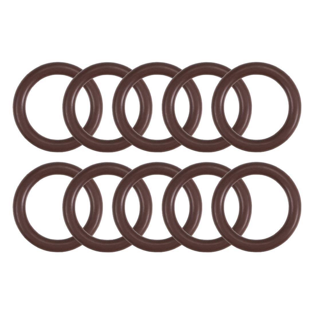 uxcell Fluorine Rubber O-Rings 22mm OD 16mm ID 3mm Width, Metric FKM Sealing Gasket, Pack of 10