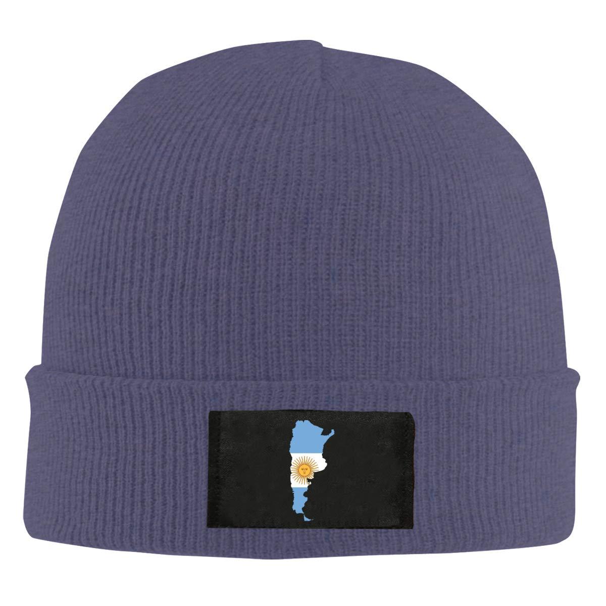 Men Women Flag Map of Argentina Skull Hat Beanie Cap Winter Knit Hat Cap