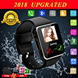 Smart Watch for Android Phones, Bluetooth Smartwatch Touchscreen with Camera, Unlocked Smart Watches with SIM Card Slot, Waterproof Smart Wrist Watch Phone for Women Man Kids Samsung (Black.1)