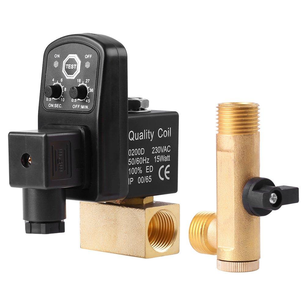 G1 / 2 DN15 Válvula de Drenaje Sincronizada Válvula Automática Separada para Compresor de Aire(230V): Amazon.es: Industria, empresas y ciencia