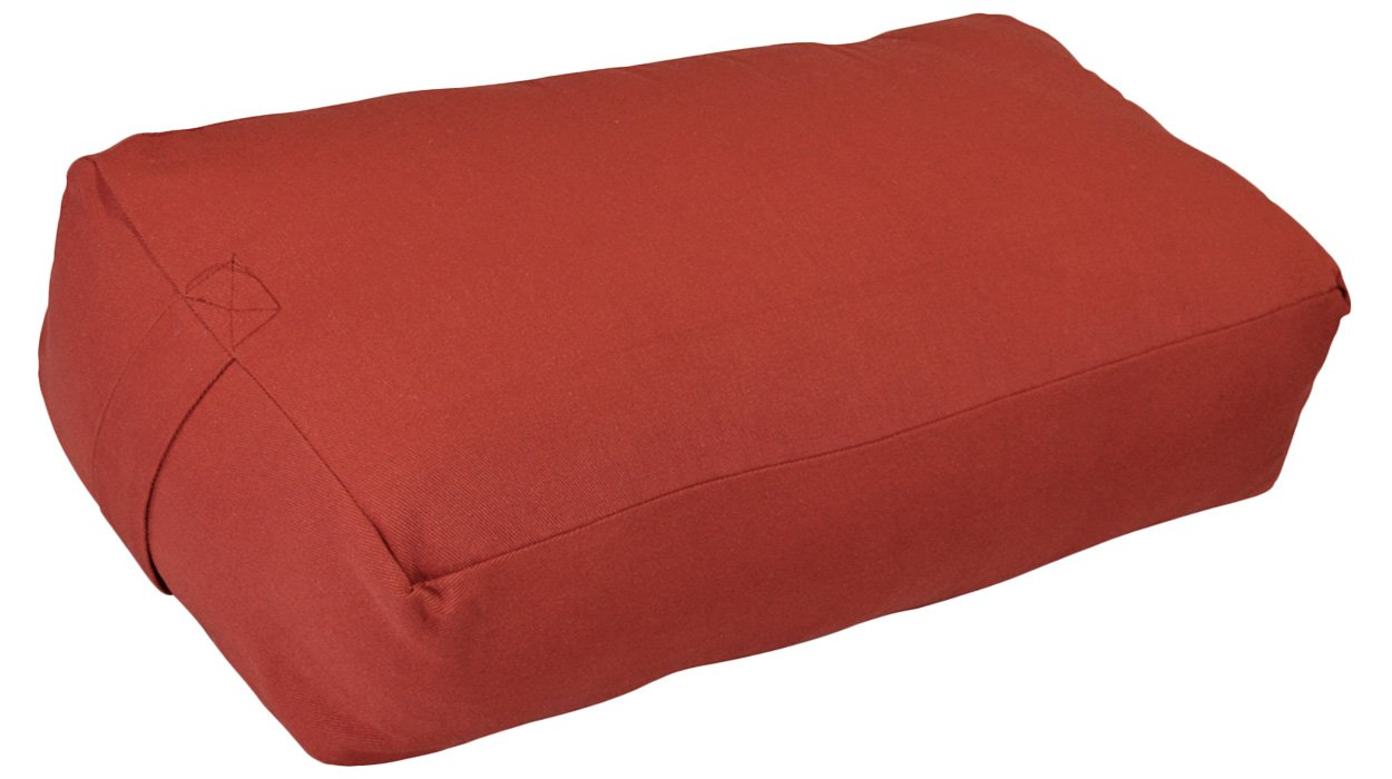 YogaAccessories (TM) Zen Cotton Meditation Pillow - Maroon