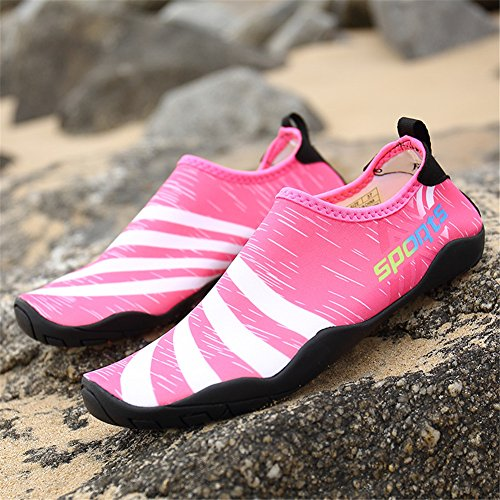 for Surf Dry Shoes Shoes Beach Swim Water Pink Women's Yoga Barefoot Quick Men's IZ0xSx