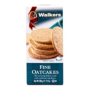 Walkers Shortbread Fine Oatcakes (Galettes D'Avoines Fines), 9.8-Ounce Boxes (Pack of 4)