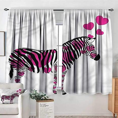 Amazon Com Pink Zebra Kids Decor Patterned Drape Romantic